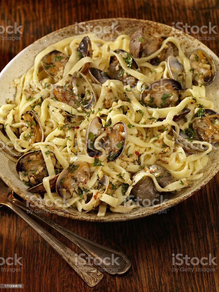 Linguini and Clams royalty-free stock photo