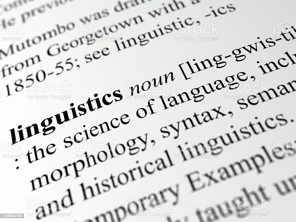 linguistics stock photo
