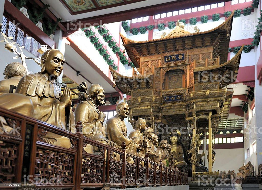 Lingyin Temple, Hangzhou, Shandong Province stock photo