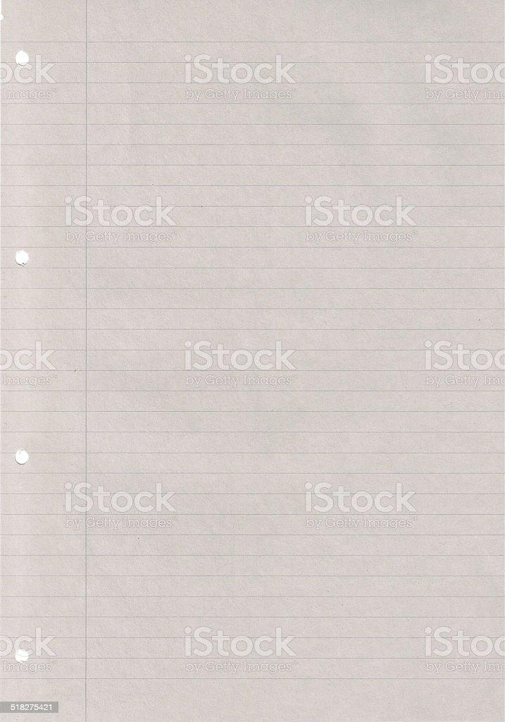 liniertes Papier stock photo