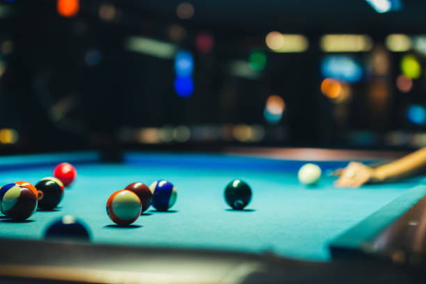 lining up the shot - cue ball stock pictures, royalty-free photos & images