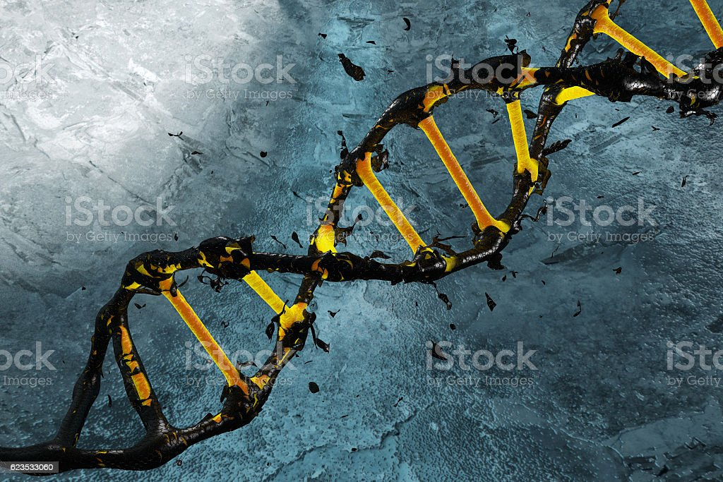 link DNA recovered done in 3d stock photo