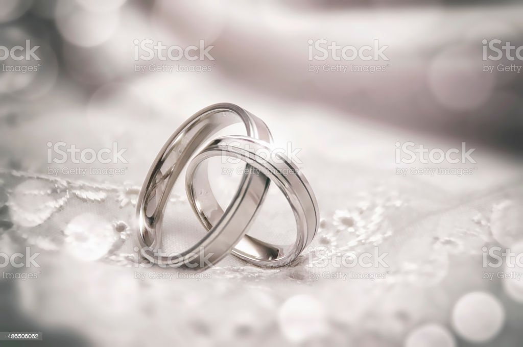 Linked Wedding Rings stock photo