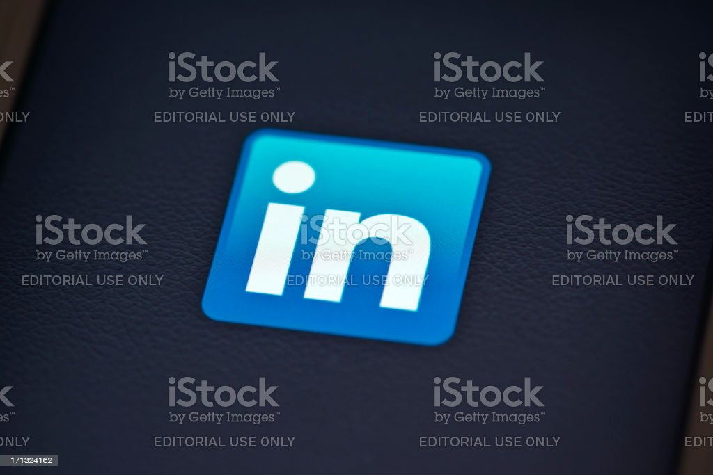 Linkedin App On Apple Iphone 4s Screen Stock Photo More Pictures