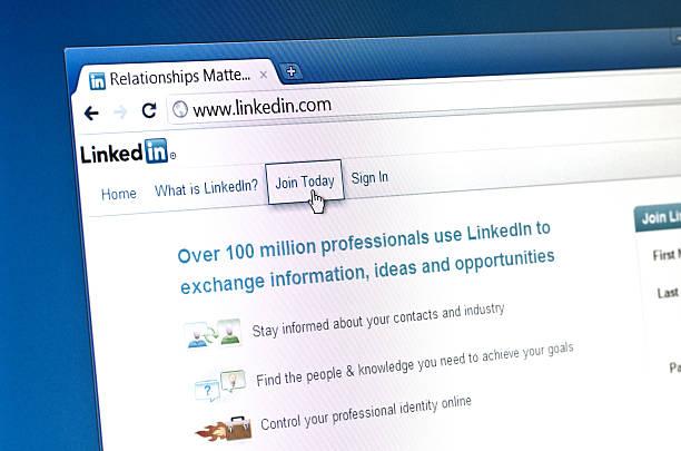 Linkedin Homepage stock photo