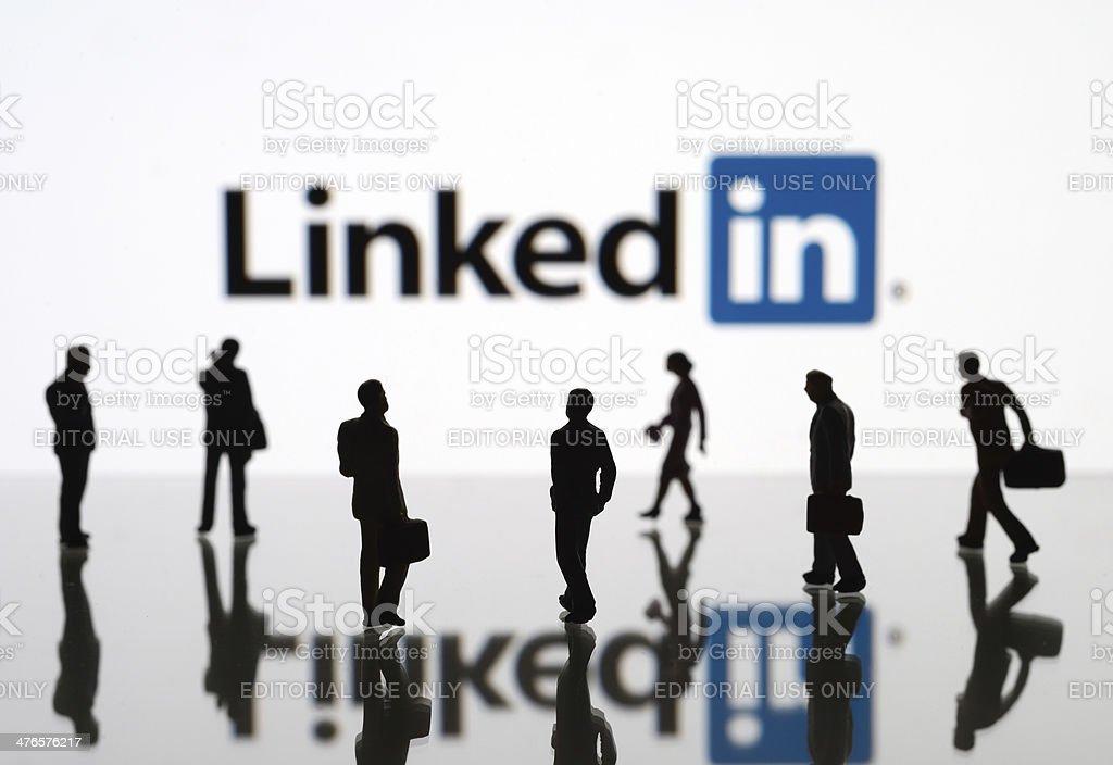 LinkedIn royalty-free stock photo