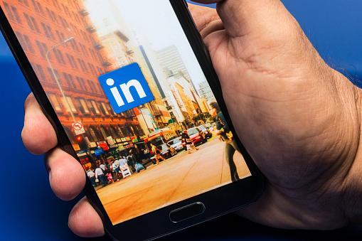 Linkedin - Fotografie stock e altre immagini di Accesso al sistema