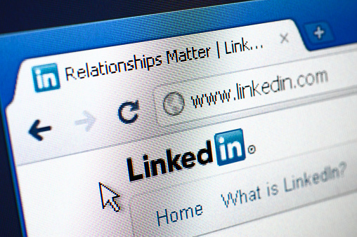 Izmir, Turkey - March 16, 2011: Close up of Linkedin\'s main page on the web browser. Linkedin is a business oriented social networking site.