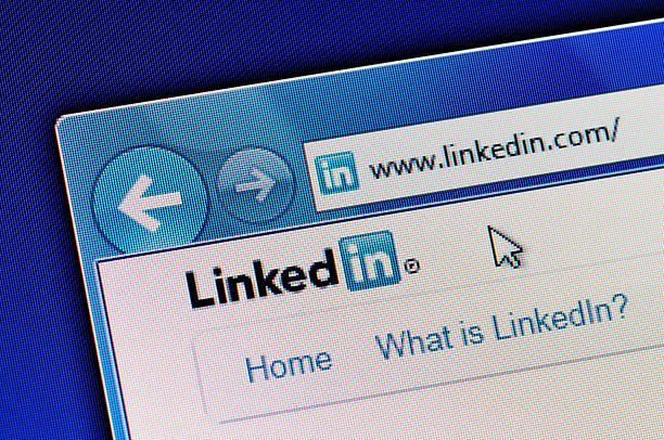 linkedin website - linkedin bildbanksfoton och bilder