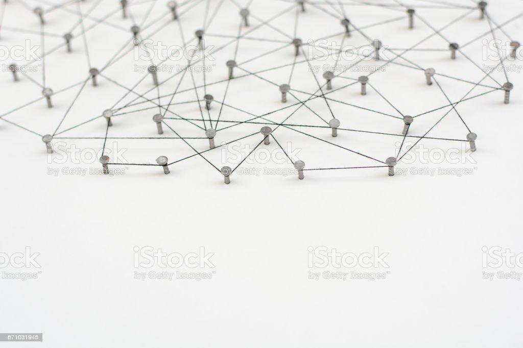 Linking entities. Network, networking, social media, internet...
