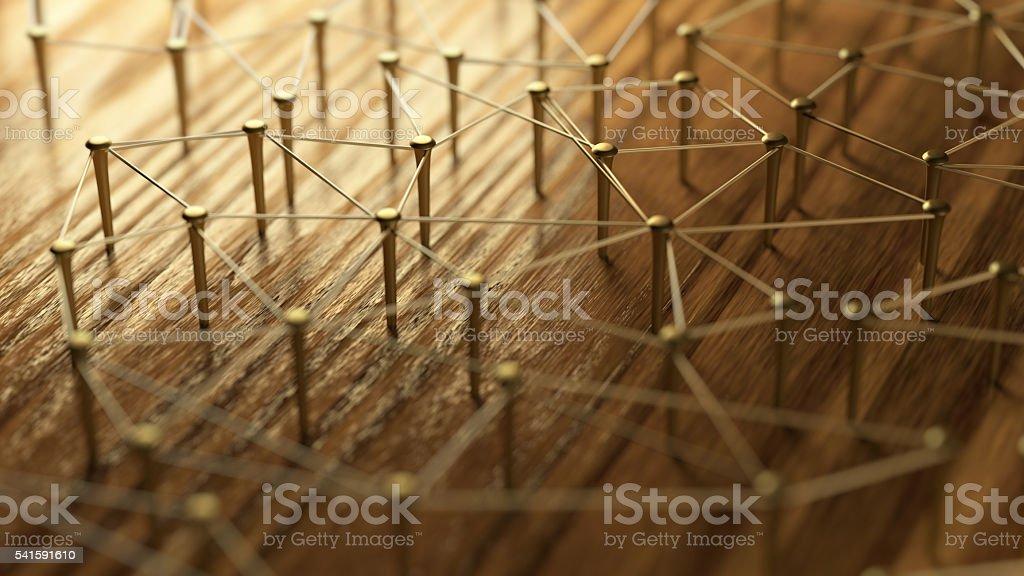 Vinculación entidades. Red de redes, redes sociales, comunicación de Internet abstracto. - foto de stock
