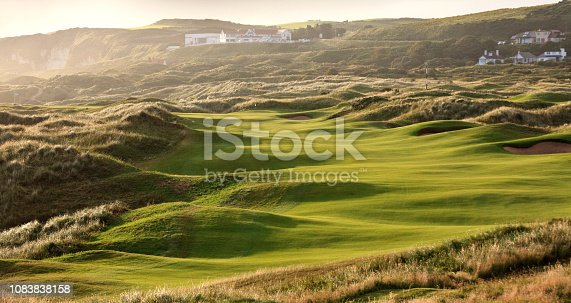 A beautiful links golf course in Ireland.