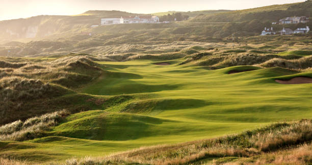 Links Golf Course in Ireland stock photo