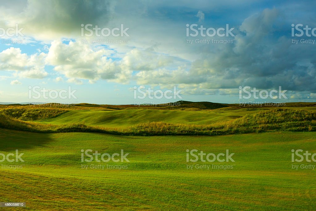 Links Golf Course in Scotland stock photo