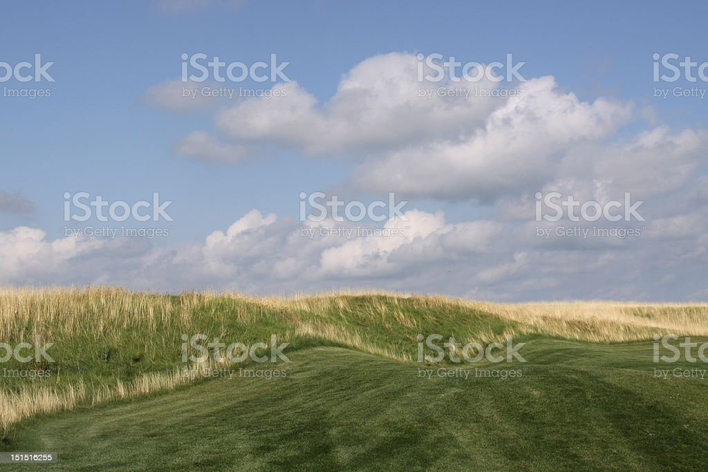 Links style golf course royalty-free stock photo