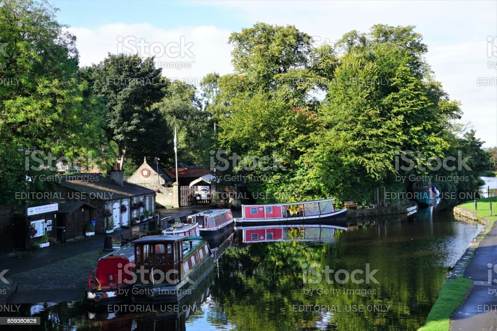 Linlithgow Canal Centre stock photo