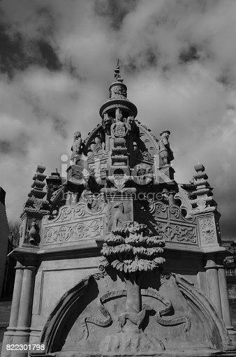 Ornate fountain in Linlithgow