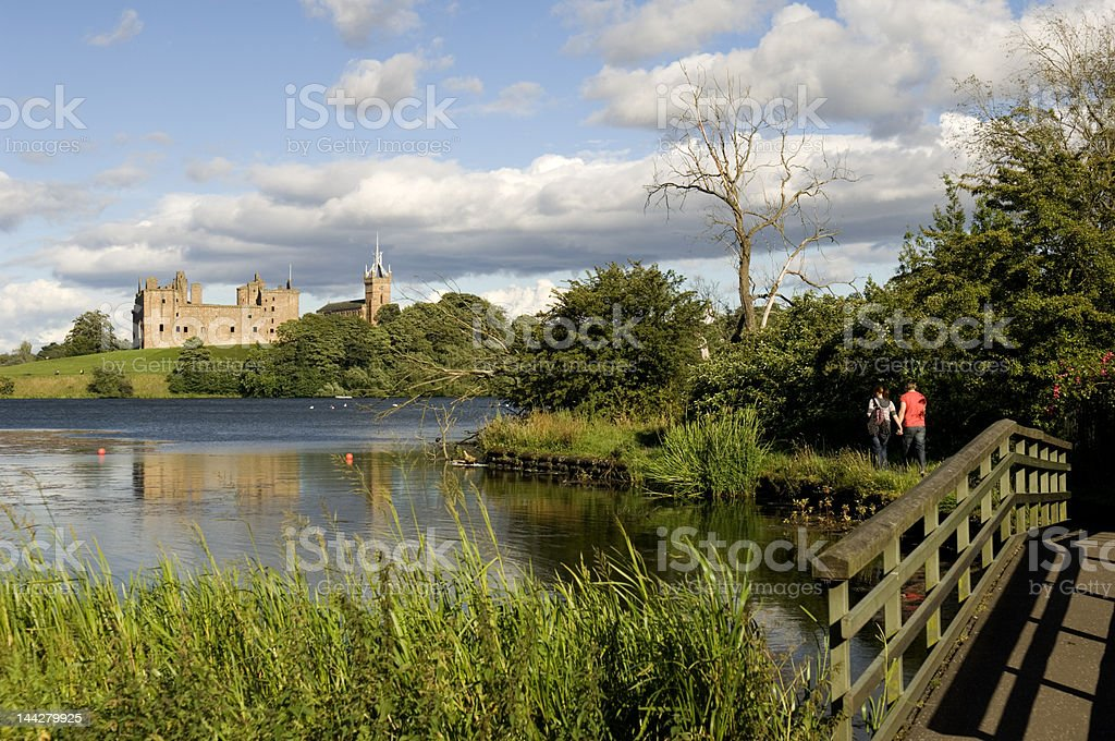 Linlithgow Palace stock photo