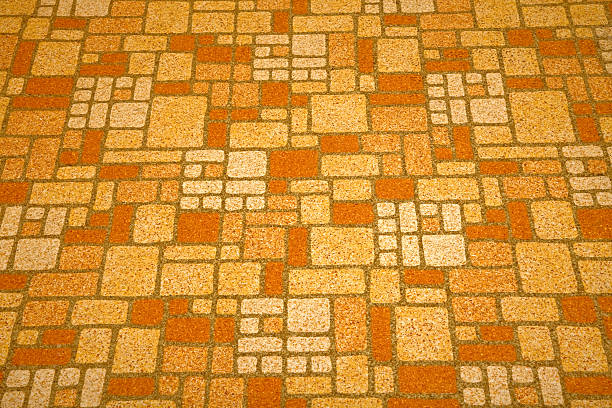 Linoleum tile background Detailed image of a linoleum tile background from the 1970s. linoleum stock pictures, royalty-free photos & images