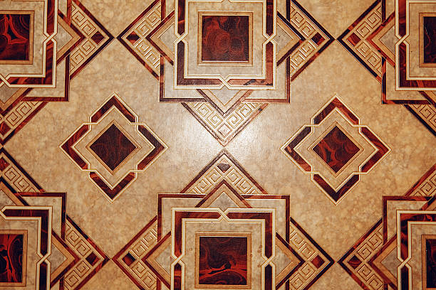 Linoleum with brown geometric pattern Linoleum with brown geometric pattern. Linoleum background texture linoleum stock pictures, royalty-free photos & images