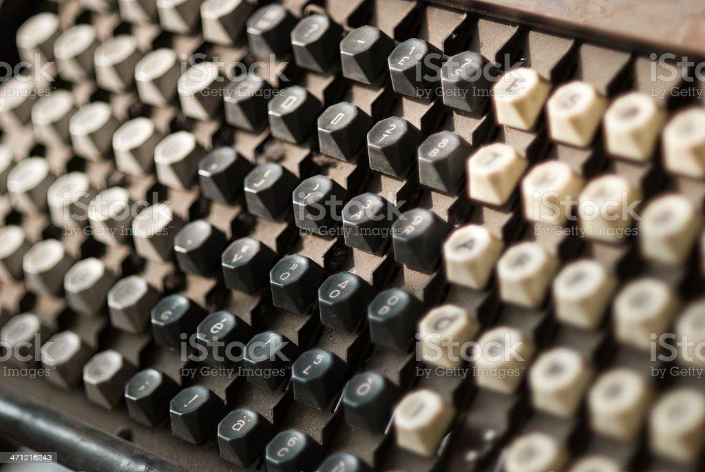 Linotype Keyboard royalty-free stock photo