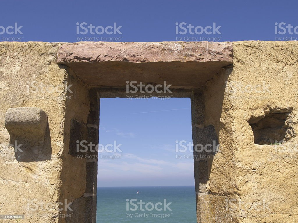 Lintel of the Guette stock photo