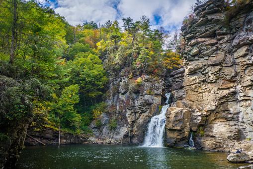 Linville Falls, along the Blue Ridge Parkway in North Carolina