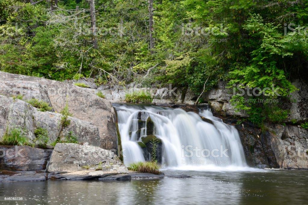 Linville Falls, Blue Ridge Parkway stock photo