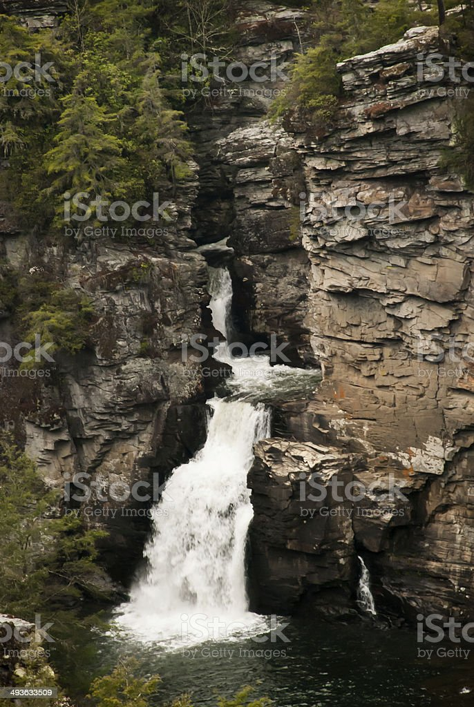 Linville Falls From Above stock photo