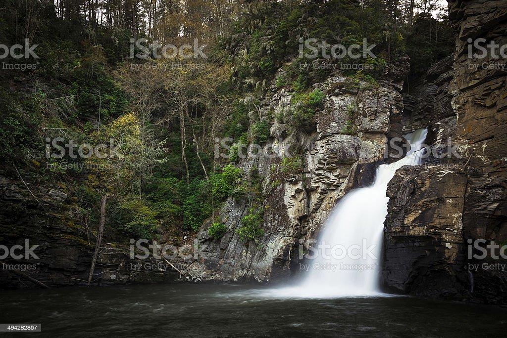 Linville Falls In North Carolina 7 stock photo