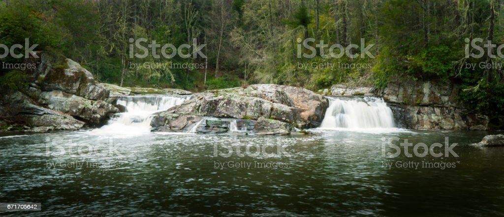 Linville Falls stock photo