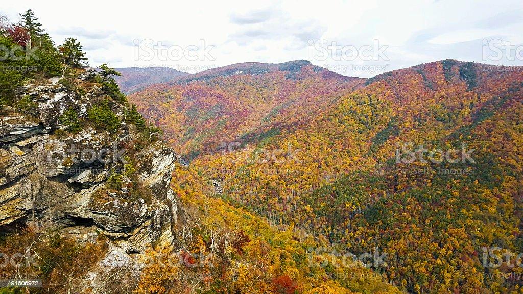 Linville Gorge In North Carolina stock photo