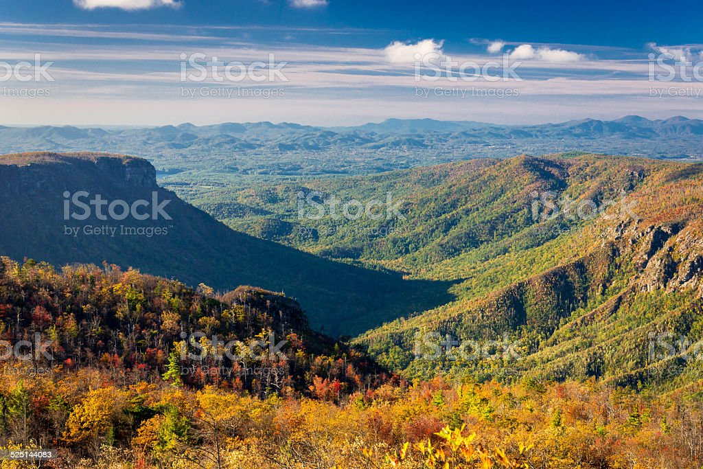 Linville gorge Views stock photo