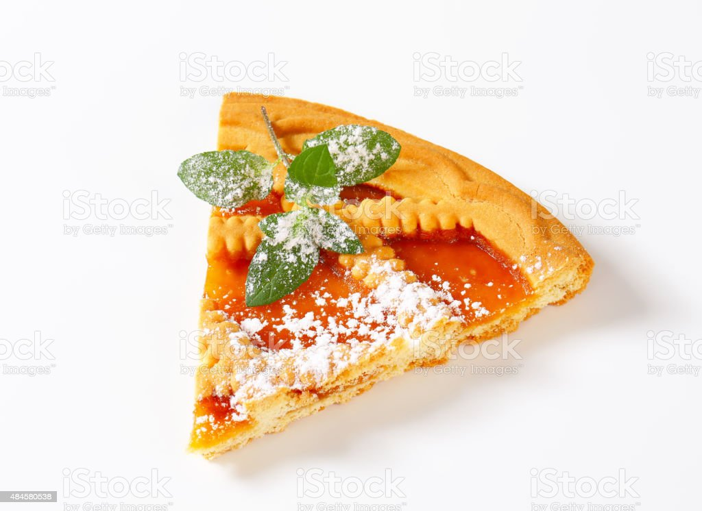 Linzer apricot tart stock photo