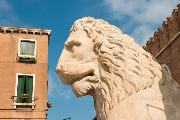 Lion at the Venetian Arsenal, Venice, Italy Lion at the Venetian Arsenal, Venice, Italy porta magna stock pictures, royalty-free photos & images