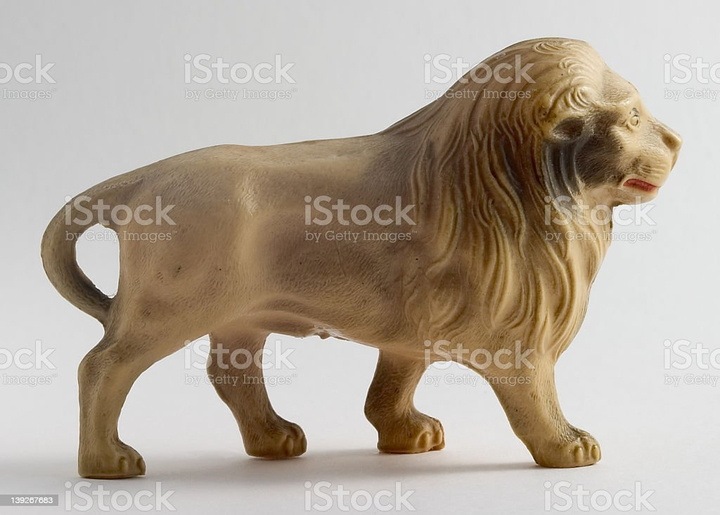 Lion, celluoid toy royalty-free stock photo