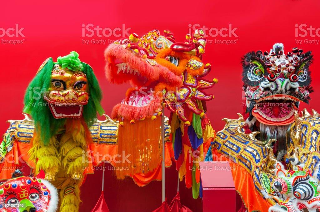 Löwentanz Kostüm für Chinese New Year – Foto