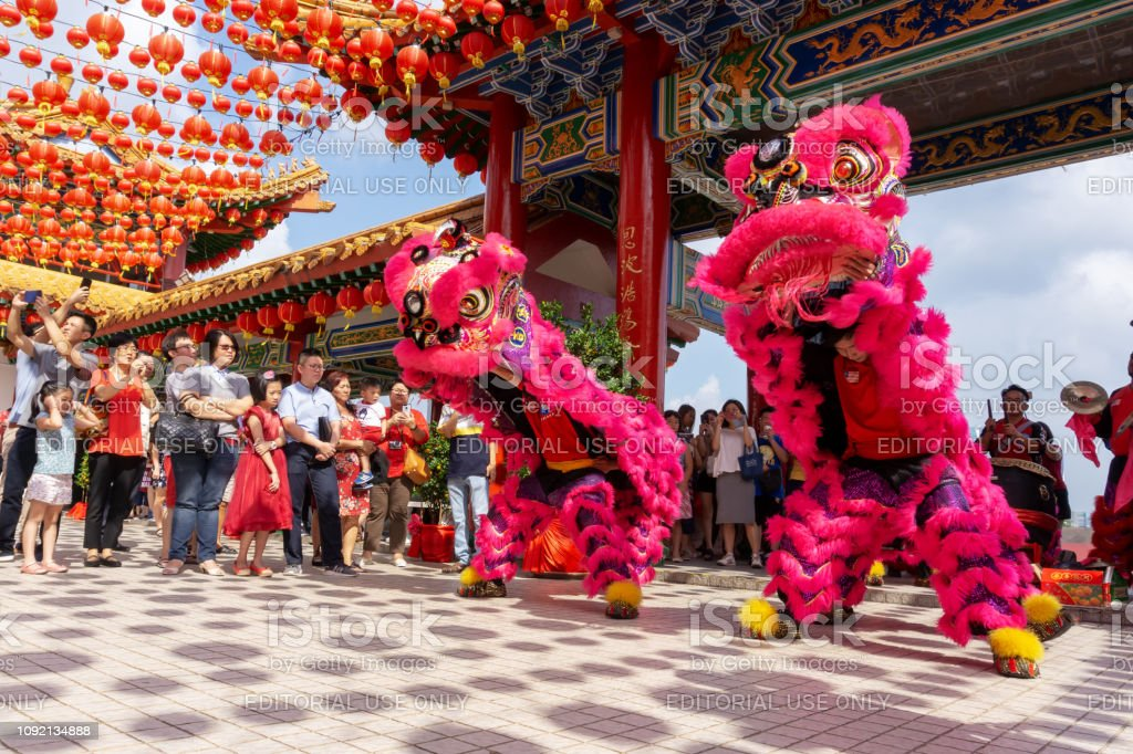 Lion Dance During Chinese New Year Stock Photo Download Image Now Istock