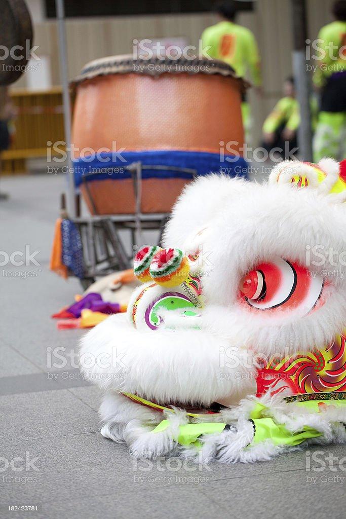 Lion Dance Head stock photo