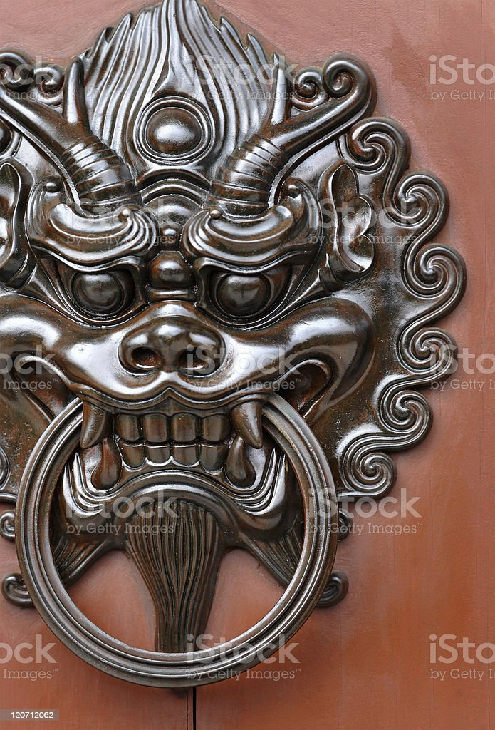 lion door knob royalty-free stock photo