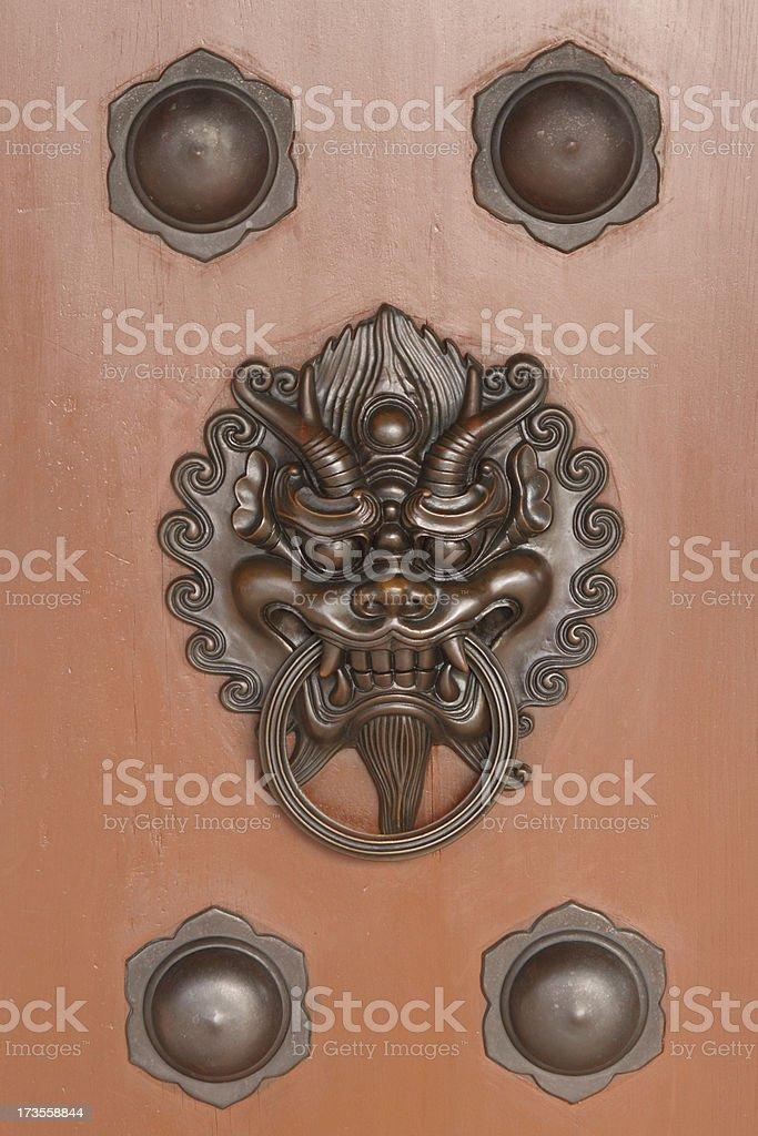 Lion Door Knocker royalty-free stock photo