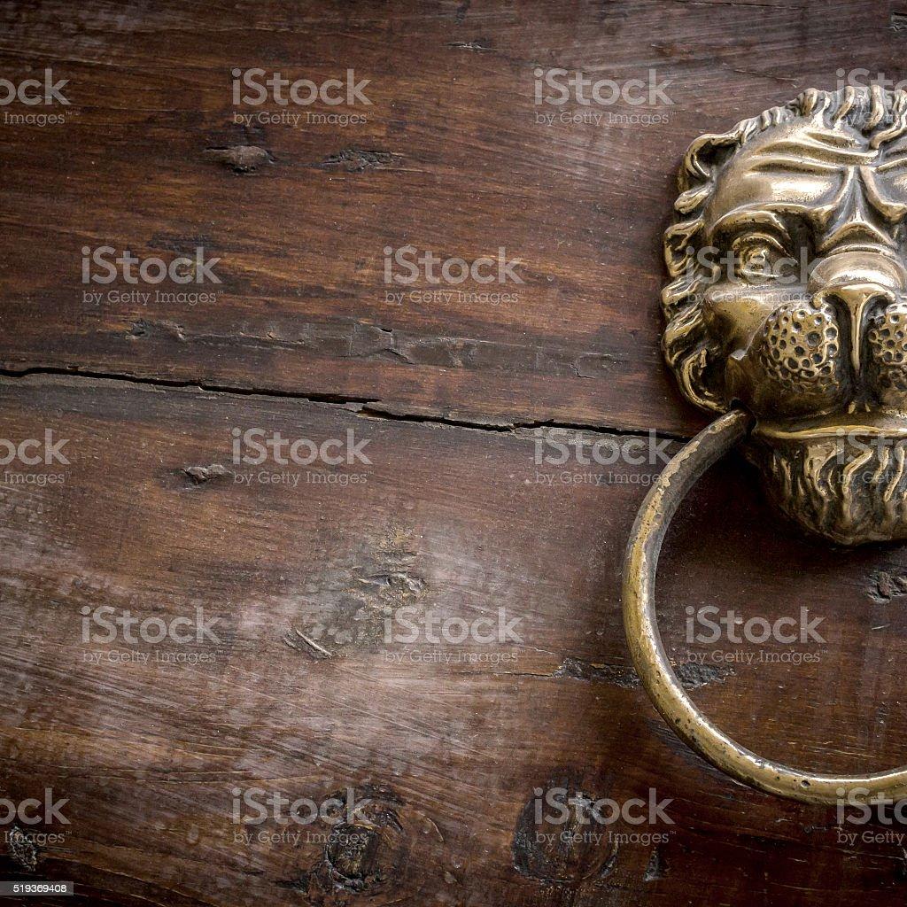 Lion Door Knocker Stock Photo - Download Image Now - iStock