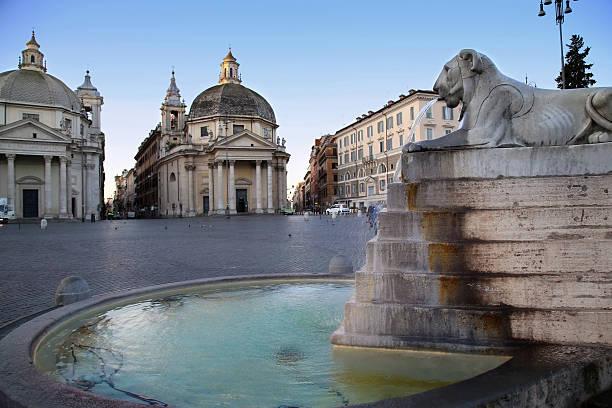 Löwe-Brunnen auf der Piazza del Popolo – Foto