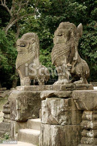 478956028istockphoto Lion guards at Preah Ko Temple, Ancient Angkor, Cambodia 92779955