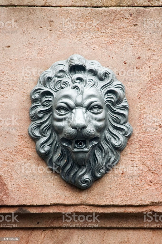 Lion Head - Architectural Detail royalty-free stock photo