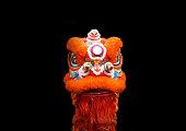 ライオン ヘッド ダンサー パフォーマンス中国スタイル