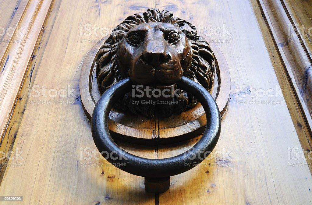 Lion Head Door Knocker stock photo