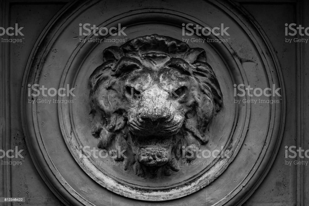 Lion head marble. stock photo