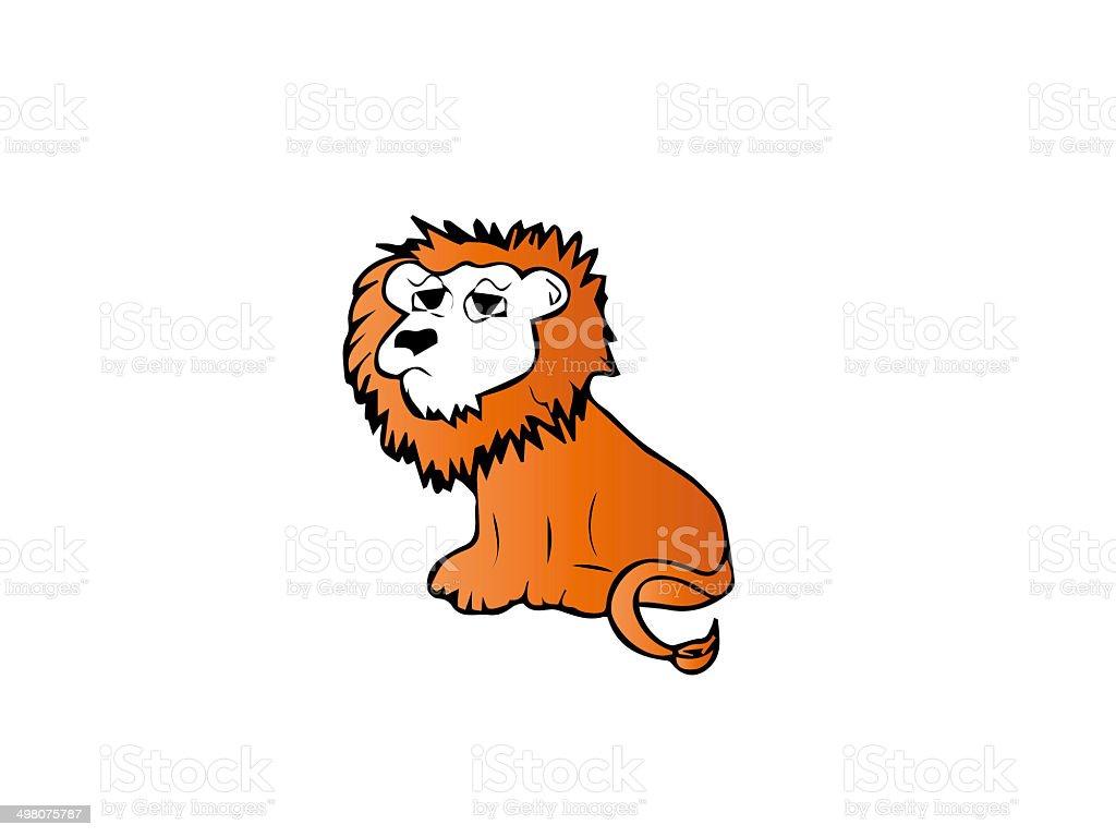 lion illustrator royalty-free stock photo