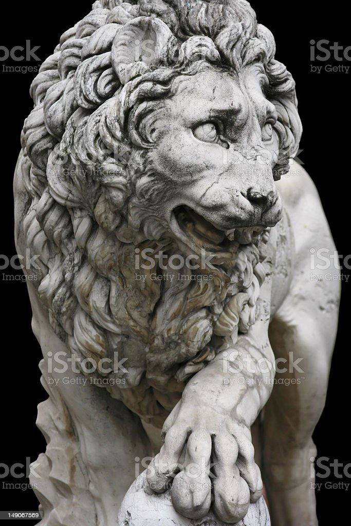 Lion in Florence royalty-free stock photo
